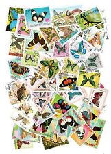 LOT DE 50 TIMBRES DIFFERENTS THEMES PAPILLONS