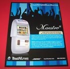 Maestro II TouchTunes Jukebox FLYER Original NOS Phonograph Music Artwork 2005