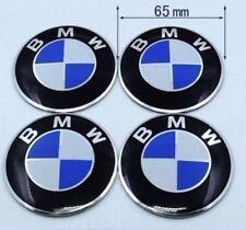 4pcs 65mm Wheel Center Hub Caps Emblem Blue/White Badge Decals Stickers For BMW