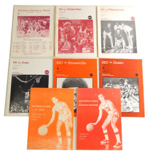 Lot of (8) 1974 -1977 Southern Illinois SIU Official Programs