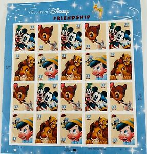 Stamps Disney The Art Of Disney FriendshipTwenty 37 Cent Stamps By USPS 2003