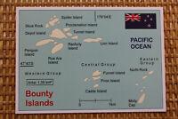 Mint MAP Postcard : BOUNTY ISLANDS (territory of New Zealand) - Pacific Ocean
