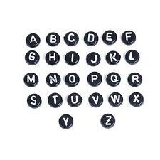 260 Black Alphabet Beads 7mm - Letter Name Beads - 10 A-Z Full Sets - J81759V