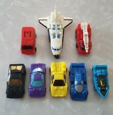 Transformers G1 Micromasters lot of 9 Cars, space ship, trucks, boat