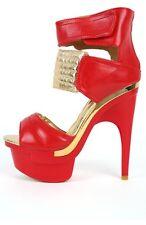 Emiliana Mona Mia Strap Peep Toe Heels 8.5