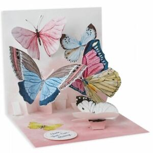Pop-Up Greeting Card Trearures by Up With Paper - Watercolour Butterflies