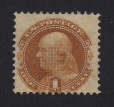 US #112 Mint, Full OG, Lightly Hinged 1c Franklin Pictorial - Sound