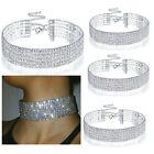 Clear Crystal Diamond Rhinestone Choker Chain Necklace Wedding Party Jewelry New