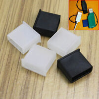 5 Stück USB Stick Stecker Antistaub Abdeckung Schutz Kappe Deckel Mütze Caps