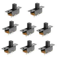 8Pcs 2 Position SPDT 1P2T Panel Mount Vertical Slide Switch 3 Solder Lug Pi X5R8