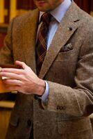 3 Piece Brown Tweed Men Suit Formal Tuxedo Wedding Groom Party Prom Casual Suit