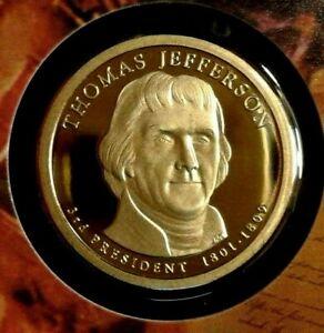2007-Proof   Presidential  Dollar Thomas Jefferson Beautiful Coin