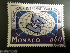 MONACO 1969, timbre 806, ORGANISATION TRAVAIL, oblitéré, VF used STAMP