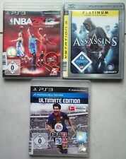 Fifa 13 2013 Fussball +  Assassin's Creed + NBA 2K13 2013 Basketball PS3 Spiele