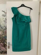 Warehouse Ruffle One Shoulder Dress New With Tags Size 14 Party Wedding  Races