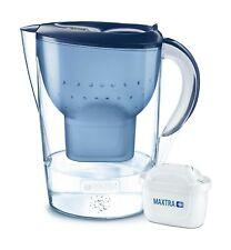 Brita Marella Carafe d'eau filtrante, Maxtra +, Bleu-Taille XL carafe et filtre