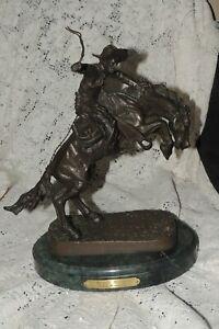 BRONCO BUSTER Frederic Remington Western Bronze Statue Sculpture  Medium Size