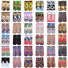 Wholesale Lot 10 Pairs 3D Printed Animal Low Cut Ankle Socks Xmas Gift Discount
