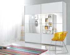 Schwebetürenschrank Kleiderschrank Schlafzimmerschrank Spiegel 200cm weiß 540251