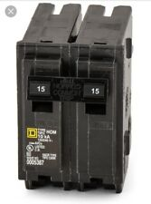 New Circuit Breaker Square D Homeline  HOM215 2 Pole 15 Amp 120/240V Plug In