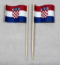 Party-Picker Kroatien 50 Stk Dekopicker Profiqualität Papierfähnchen Flagge Food