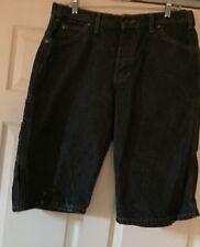 Dickies Black Dark Denim Cargo Shorts Mens Size 34