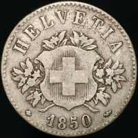 1850 BB | Switzerland 20 Rappen | Billon | Coins | KM Coins