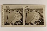 Francia Nice La Baie Dei Angeli Panorama Foto Stereo Vintage Analogica c1925