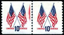 US: #1519 Flag Line Pair Flag Coil MNH