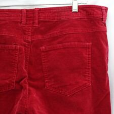 Women's 16P Bill Blass Jeans Stretch Red Velour Feel Soft 5 Pocket Petite