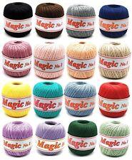 """Magic No. 8"" Spitzen Häkelgarn Filethäkelgarn 100 gr. / 100 % Baumwolle"