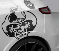 Auto Aufkleber Cowboy Skull Sticker PKW LKW JDM OEM Decals Funsticker Folie