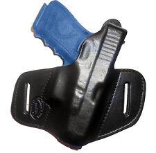 ON DUTY Gun Holster Ruger LC9 /w Lasermax Thumb Break RH OWB Black Leather