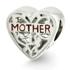 Mother Bead .925 Sterling Silver Antique Finished Reflection Beads