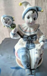 1983 Schmid Be A Clown No 377 Rotating Musical Collectible Jester Child