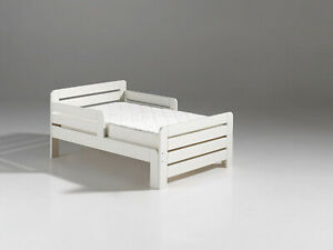 """Vipack: Einzelbett """"JUMPER"""" von 140-200 cm- Kinder-/Jugendbett Ausziehbett -weiß"""