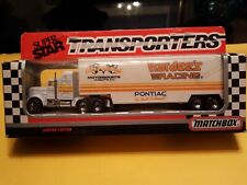 Matchbox Superstar Transporters Hardees Racing. Cale Yarborough. New in package.