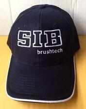 SIB BRUSHTECH SNOW REMOVAL BRUSH EQUIPMENT BASEBALL CAP HAT, BLACK, NEW