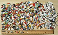Broken China Plate Mosaic Tiles, 800 Mix Color & Shape Very Small Hand-cut Tiles