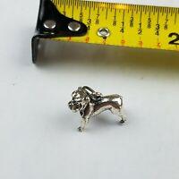 Big Sterling Silver RARE Bulldog Bracelet Charm Vintage
