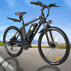 26IN Alloy Electric Bicycle Bike City Mountain 36VBattery Sport+Lamp 25KM/H HI