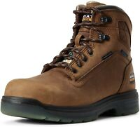 Ariat 244077 Mens CSA Waterproof Carbon Toe Work Boots Aged Bark Size 9 D
