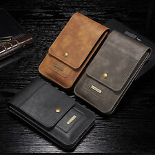"""Universal Phone 6.5"""" Leather Waist Bag Pouch Belt Loop Holster Wallet Case Cover"""