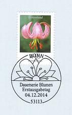 BRD 2014: Die Türkenbundlilie Nr. 3118 mit dem Bonner Ersttags-Sonderstempel! 1A