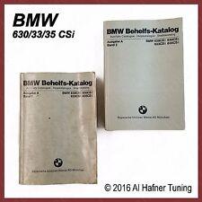 BMW 628csi,630csi,633csi,635csi parts books  01099760416, 01099760417