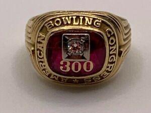 American Bowling Congress 300 ring 1970  HJ 10K