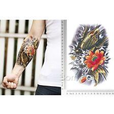 Wasserfest Einmal Tattoo Körper Karpfen Muster Tattoos Aufkleber Hauttattoo