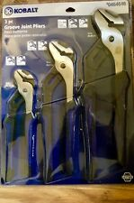 """Kobalt Pliers 3 pack combo Channel Groove Lock Joint  8 10 12"""" Full retail pack"""