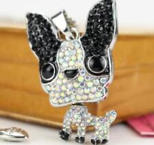 Pendant Betsey Johnson Chihuahua dog animals rhinestone Enamel charm necklace