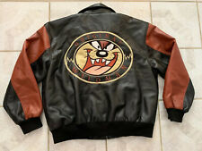 New listing Vintage Tasmanian Devil Taz Wildman Looney Tunes Coat Jacket 90s Xl Black/Tan